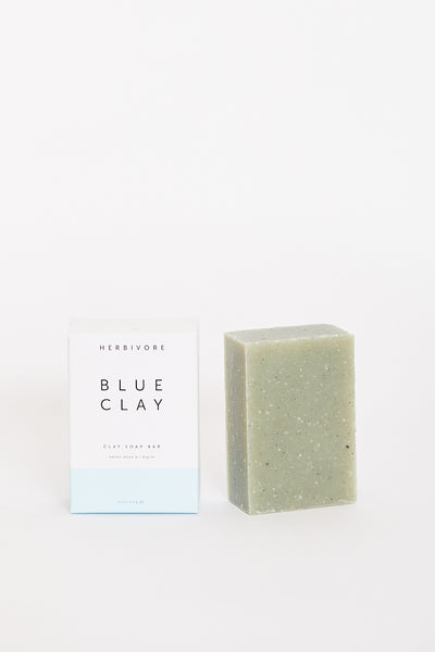 Herbivore Botanicals Blue Cambrian Clay Cleansing Bar Soap Siberian Lakes Gentle Non Drying Combination Skin Hand-crafted Seattle Vegan Organic Non Toxic -Parc Shop