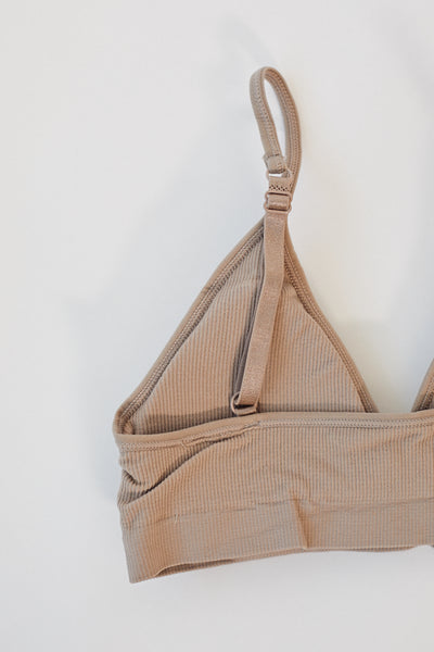 Ribbed Bralette / Taupe Parc Shop