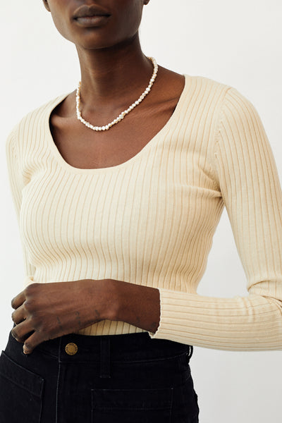 Rolla's Classic Rib Sweater / Natural Parc Shop
