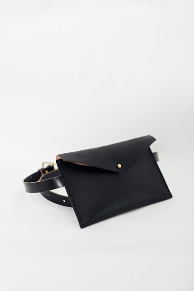 Solid Mfg. Co. Leather Waist Pack Carryall Fanny Pack Hip Belt Bag Handmade in Minneapolis, MN USA - Parc Shop