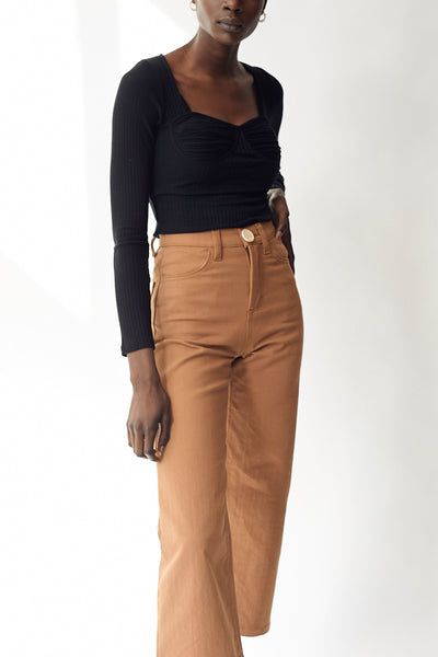 Whimsy + Row Flora Pant / Tan Parc Shop
