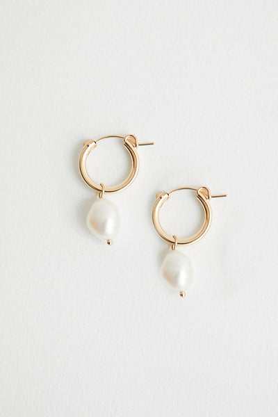 Wolf Circus Small Pearl Hoops
