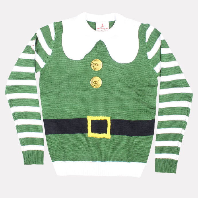 Elf Costume Christmas Jumper