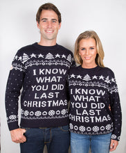 Load image into Gallery viewer, I know what you did last Christmas , Christmas Jumper