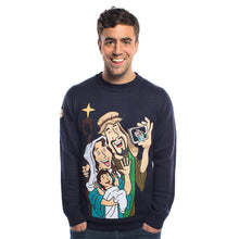 Load image into Gallery viewer, Baby Jesus Christmas Jumper on male