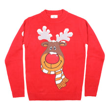 Load image into Gallery viewer, Red Rudolph Christmas Jumper