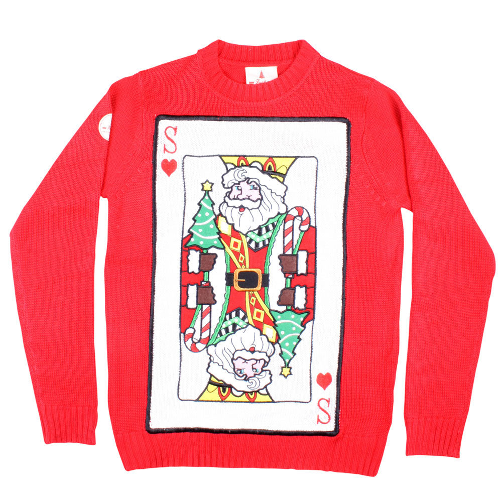 Santa of Hearts Christmas Jumper