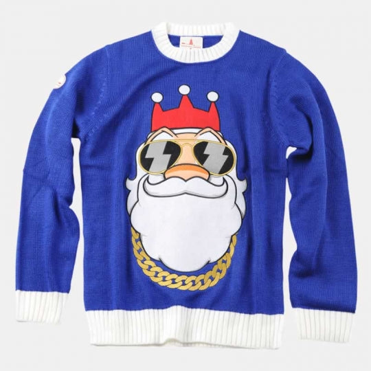 Bling Santa Christmas Jumper