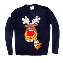 Load image into Gallery viewer, Funky Christmas Jumper rudolph christmas jumper