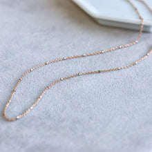 Load image into Gallery viewer, Nugget Chain Rose Gold Necklace