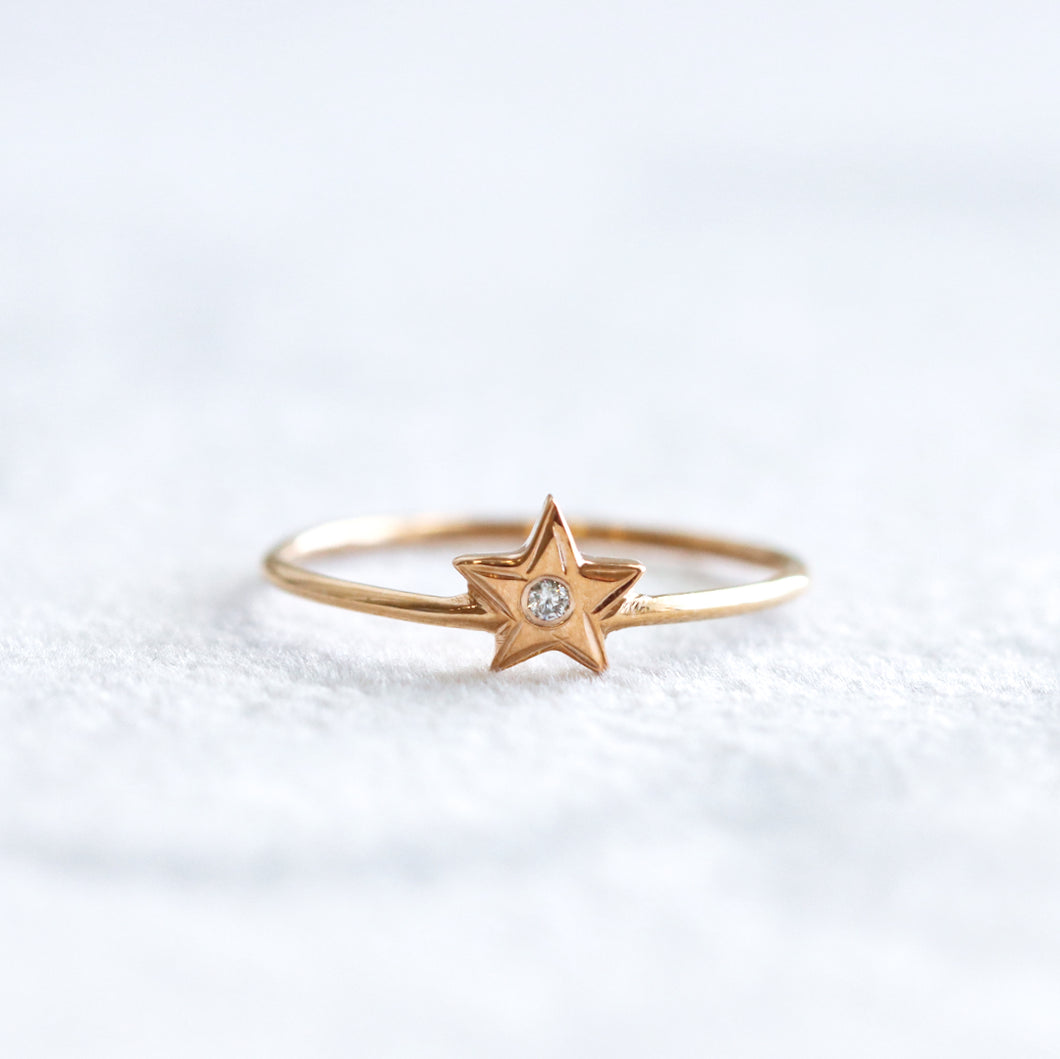 Star Rose Gold Ring