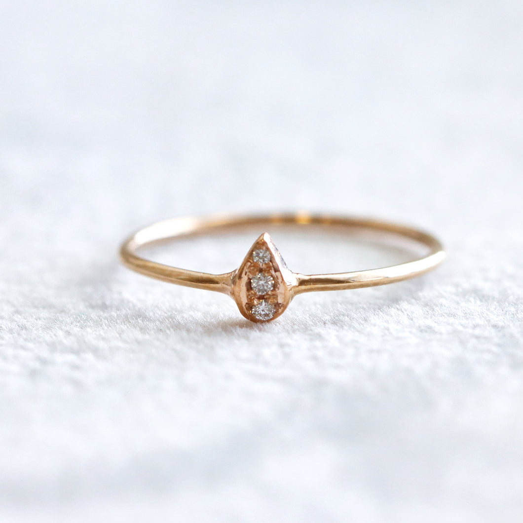 Drop Rose Gold Ring