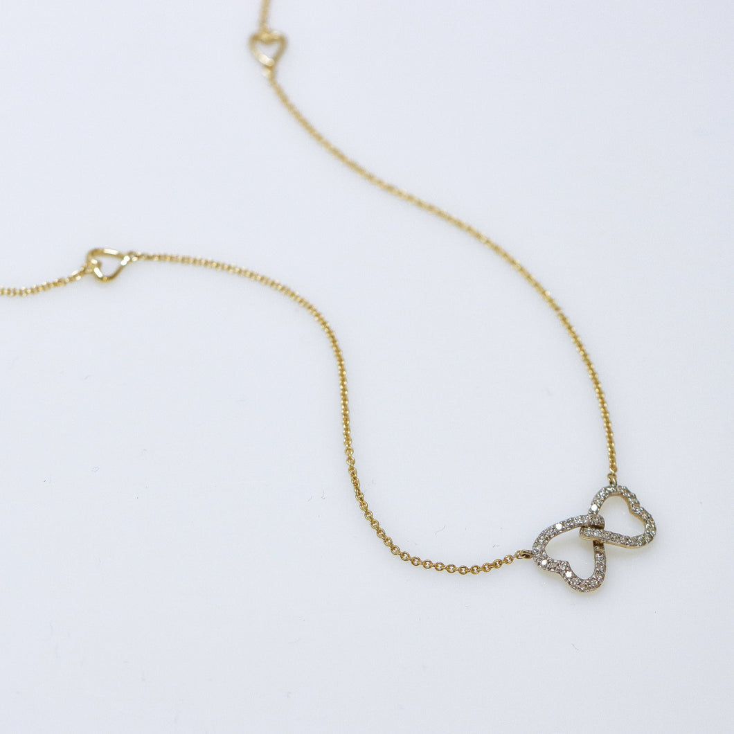 Diamond Heart Eternity Necklace