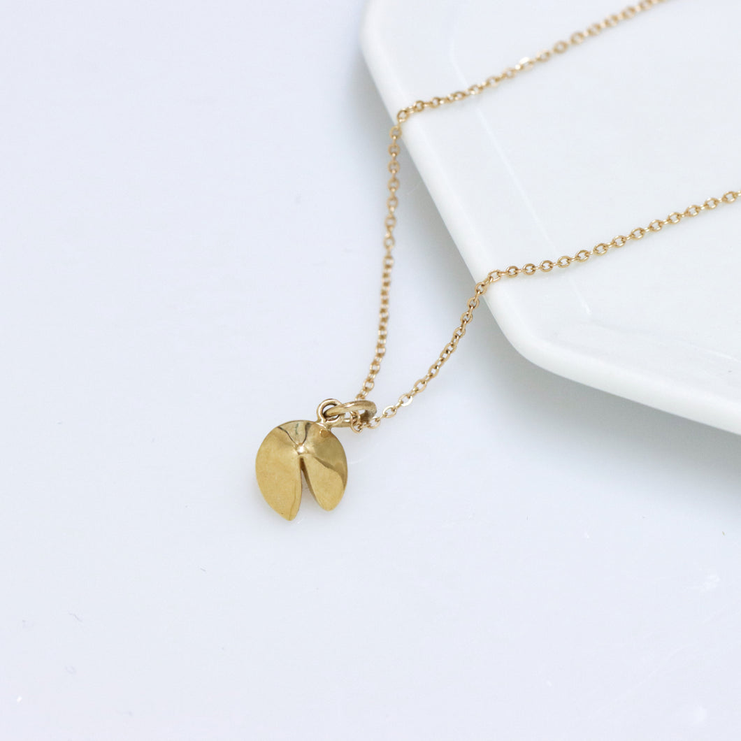Fortune Cookie 14k Necklace