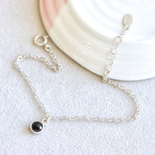 Load image into Gallery viewer, Onyx Drop Silver Bracelet