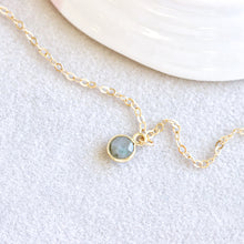 Load image into Gallery viewer, Labradorite Drop Gold Bracelet