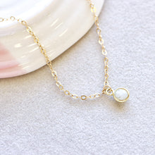Load image into Gallery viewer, Moonstone Drop Gold Bracelet