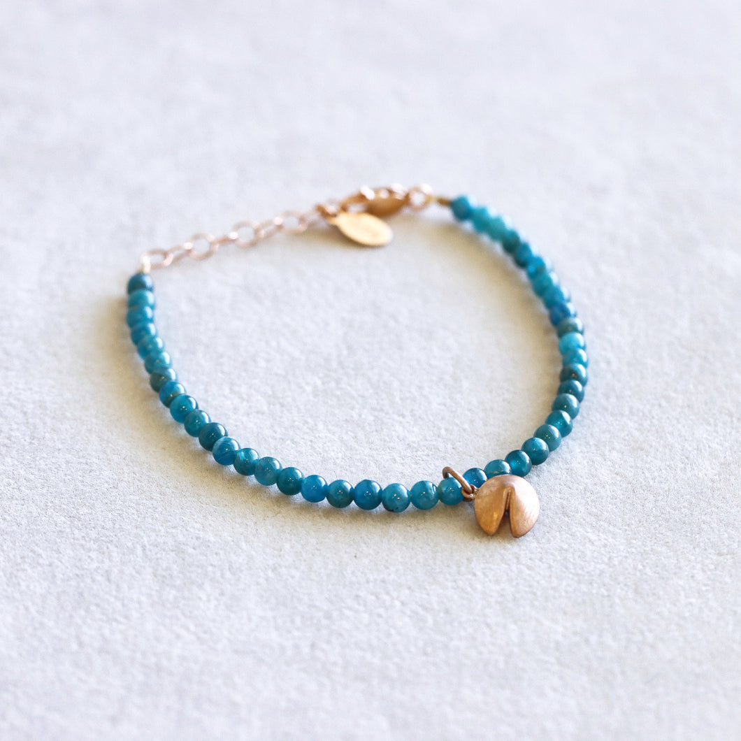 Apetite Fortune Cookie Rose Gold Bracelet