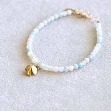Load image into Gallery viewer, Quartz Fortune Cookie Gold Bracelet
