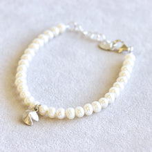 Load image into Gallery viewer, Pearl Fortune Cookie Gold Bracelet
