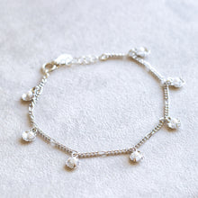 Load image into Gallery viewer, Shell Pearl Silver Charm Bracelet