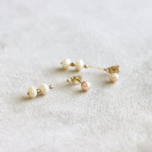 Load image into Gallery viewer, Pearl Front Back Earring