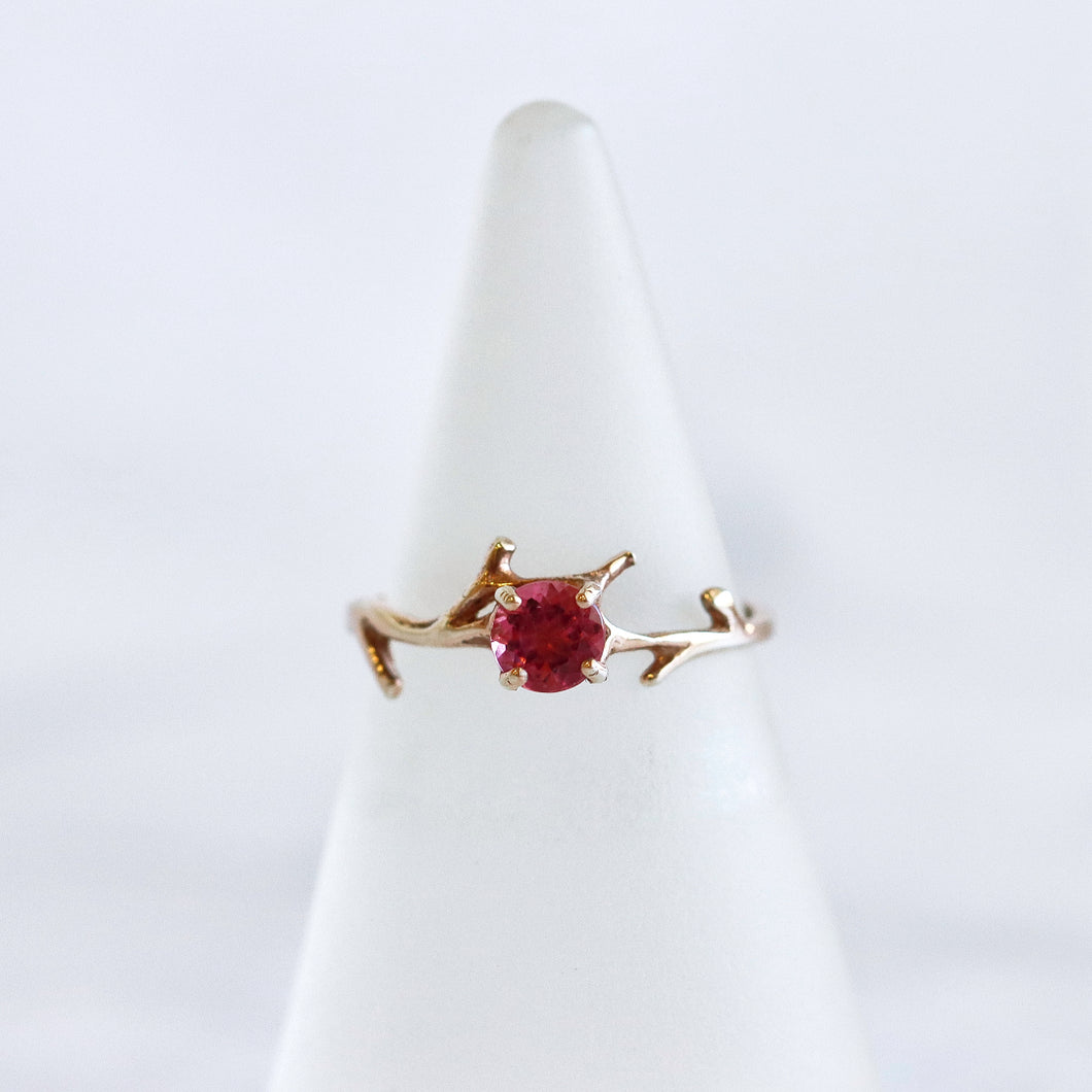 Pink Tourmaline Branch Ring