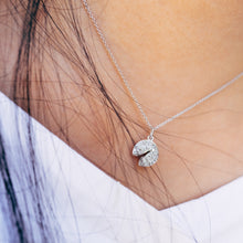 Load image into Gallery viewer, Diamond Fortune Cookie White Gold Necklace