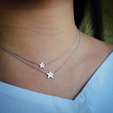 Load image into Gallery viewer, Star Diamond White Gold Necklace