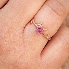 Load image into Gallery viewer, Pink Tourmaline Branch Ring