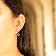 Load image into Gallery viewer, Malachite Romance Rose Gold Earrings