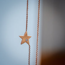 Load image into Gallery viewer, Star Diamond Rose Gold Necklace