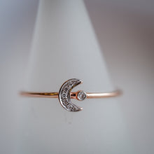 Load image into Gallery viewer, Moon Rose Gold Knuckle Ring