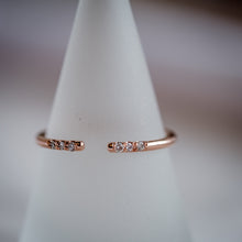 Load image into Gallery viewer, Open Rose Gold Diamond Ring