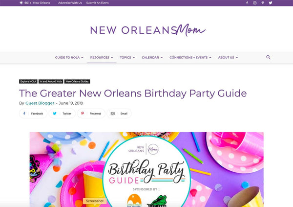 New Orleans Mom Birthday Party Guide