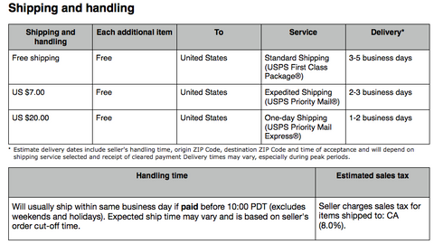 Other Shipping Options