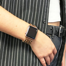 "Load image into Gallery viewer, Double Row Chain Link Apple Watch Band in Series 3/ 4 ""Gold"" (Coppery Gold)"
