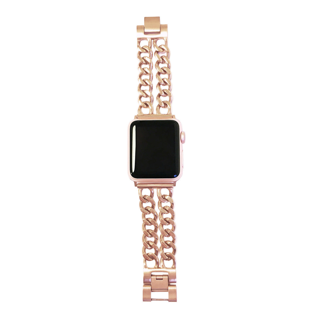 Double Row Chain Link Apple Watch Band in Series 3/ 4