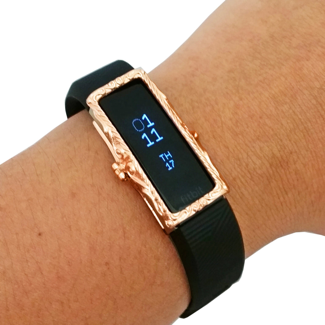 The Protective FRAME COVER for Fitbit Alta/Alta HR in Rose Gold
