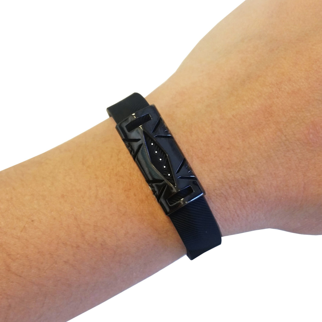 The HAYDEN Unisex Cover for Fitbit Flex 2 in Hematite