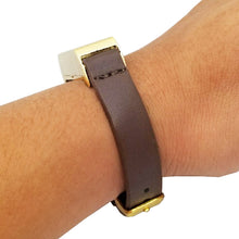 Load image into Gallery viewer, The KATE Single-Strap in Dark Brown and Gold