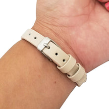 Load image into Gallery viewer, The KATE Single-Strap in Studded Beige and Silver for Fitbit Flex 2