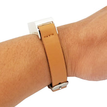 Load image into Gallery viewer, The KATE INSIGHT Crystal Studded Single Strap in Tan and Silver
