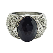 Load image into Gallery viewer, The MELISSA in Silver and Black Stone