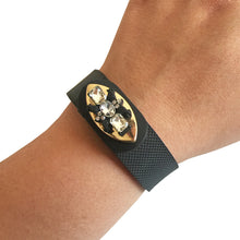 Load image into Gallery viewer, The PRINCESS Charm in Black and Gold