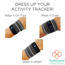 Load image into Gallery viewer, The XS/S TINLEY for the Fitbit Charge 2 Band in Black - Dress Up Your Activity Tracker