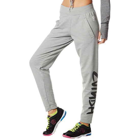 Zumba Fitness Once Around the Track Pants - Thunderin Grey