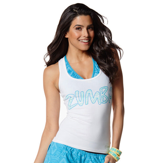 Zumba Fitness Very Necessary Racerback - Wear It Out White