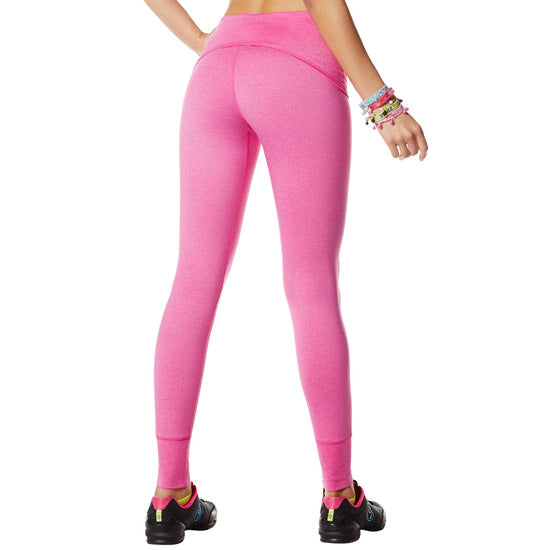 Zumba Fitness So Bootyful Long Leggings - Pin A Rose Pink