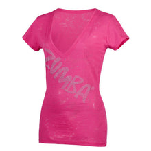 Load image into Gallery viewer, Zumba UK London Harrods Glam V-Neck - Knockout Pink
